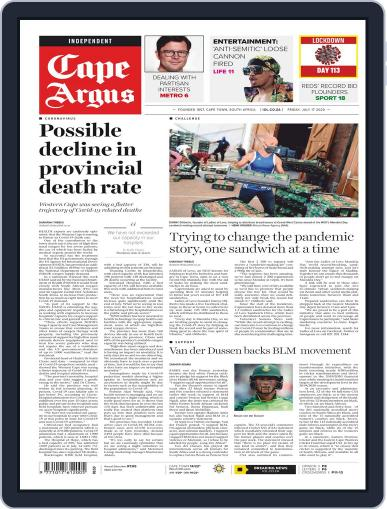 Cape Argus July 17th, 2020 Digital Back Issue Cover