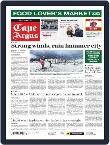Cape Argus July 14th, 2020 Digital Back Issue Cover