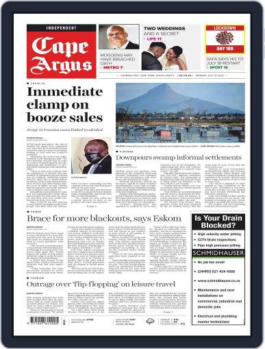 Cape Argus July 13th, 2020 Digital Back Issue Cover