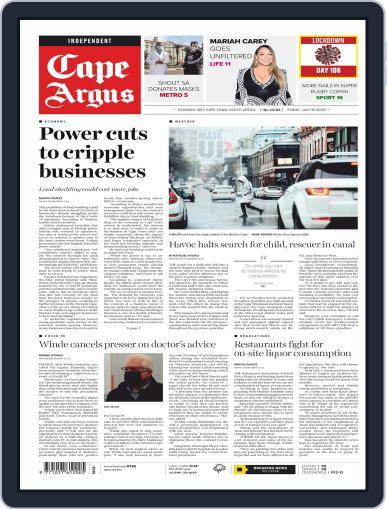 Cape Argus July 10th, 2020 Digital Back Issue Cover