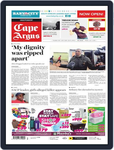 Cape Argus July 7th, 2020 Digital Back Issue Cover