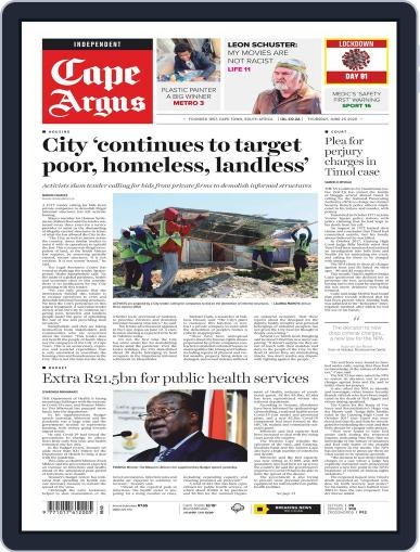 Cape Argus June 25th, 2020 Digital Back Issue Cover