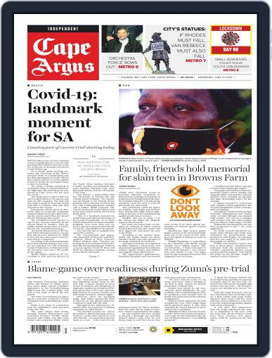 Cape Argus June 24th, 2020 Digital Back Issue Cover