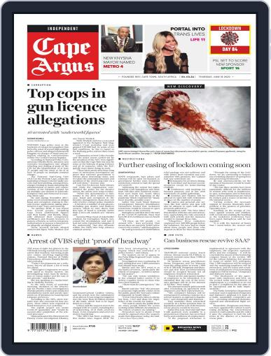 Cape Argus June 18th, 2020 Digital Back Issue Cover