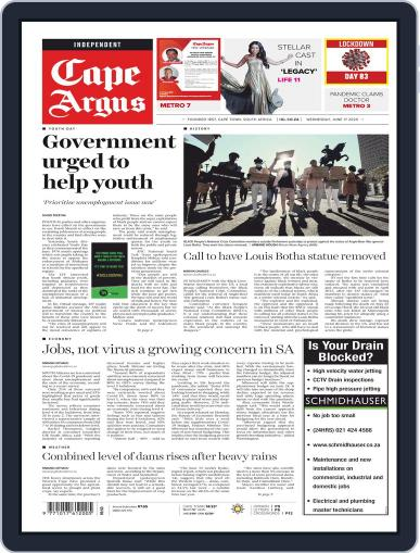 Cape Argus June 17th, 2020 Digital Back Issue Cover