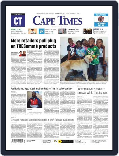 Cape Times September 11th, 2020 Digital Back Issue Cover