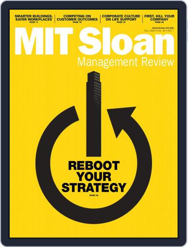 MIT Sloan Management Review August 1st, 2020 Digital Back Issue Cover