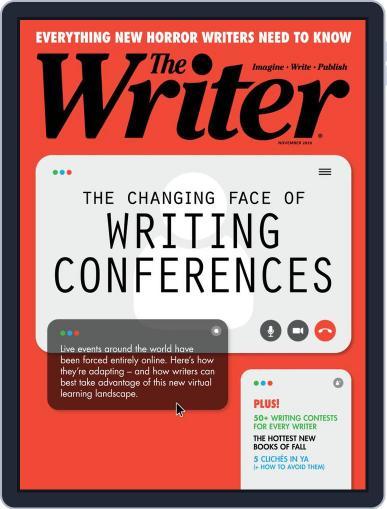 The Writer November 1st, 2020 Digital Back Issue Cover
