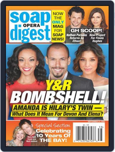 Soap Opera Digest September 21st, 2020 Digital Back Issue Cover