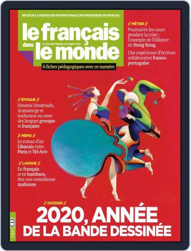 Le Français Dans Le Monde September 7th, 2020 Digital Back Issue Cover