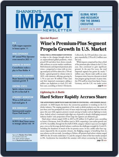 Shanken's Impact Newsletter August 1st, 2020 Digital Back Issue Cover