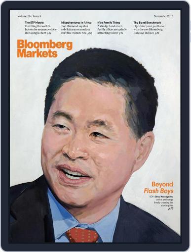 Bloomberg Markets November 1st, 2016 Digital Back Issue Cover