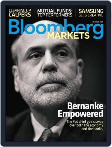 Bloomberg Markets September 2nd, 2010 Digital Back Issue Cover