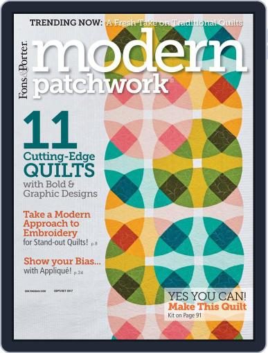 Modern Patchwork September 1st, 2017 Digital Back Issue Cover