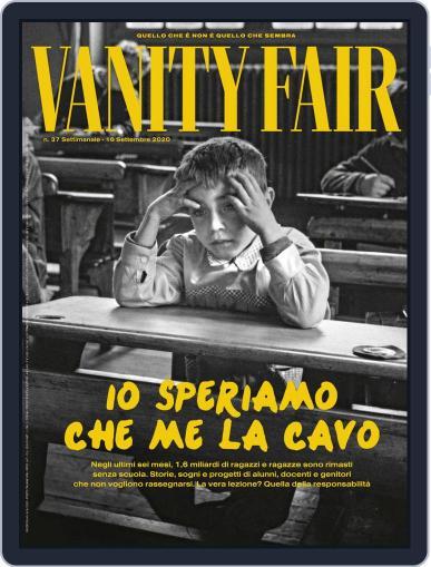 Vanity Fair Italia September 16th, 2020 Digital Back Issue Cover