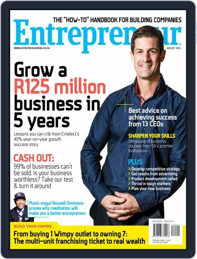 Entrepreneur Magazine South Africa (Digital) July 31st, 2014 Issue Cover