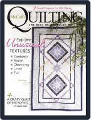 McCall's Quilting (Digital) Subscription November 1st, 2020 Issue