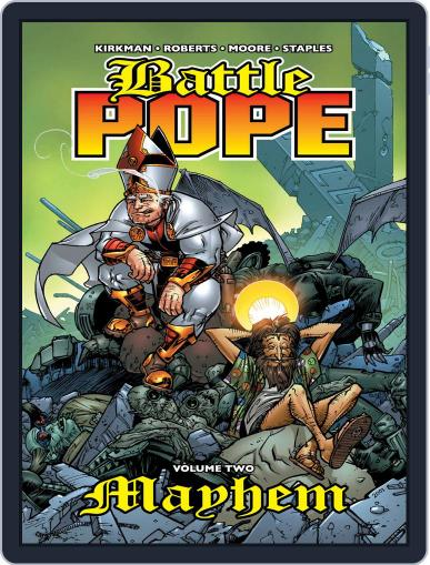 Battle Pope April 21st, 2009 Digital Back Issue Cover