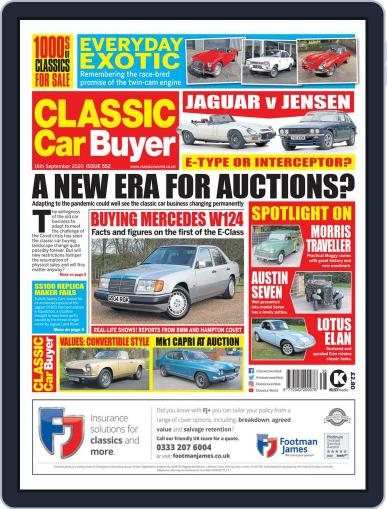 Classic Car Buyer September 16th, 2020 Digital Back Issue Cover