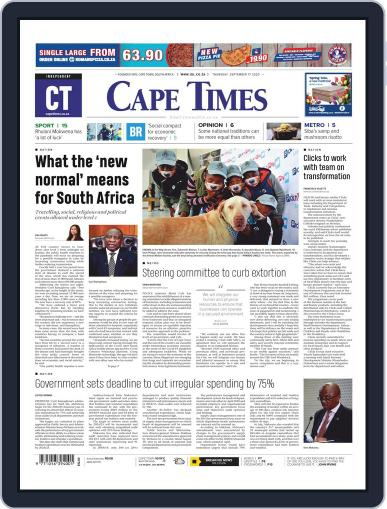 Cape Times (Digital) September 17th, 2020 Issue Cover