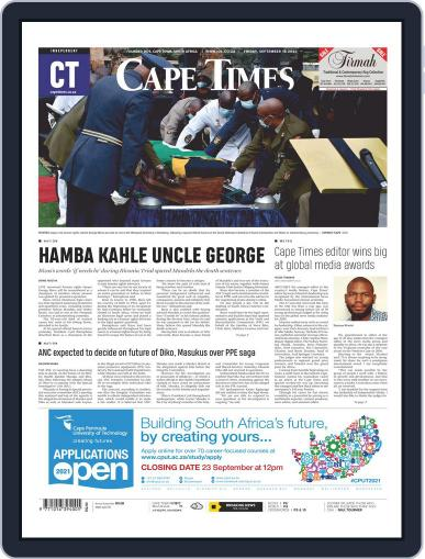 Cape Times (Digital) September 18th, 2020 Issue Cover
