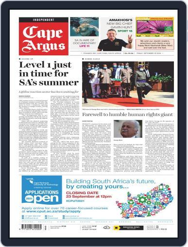 Cape Argus September 18th, 2020 Digital Back Issue Cover