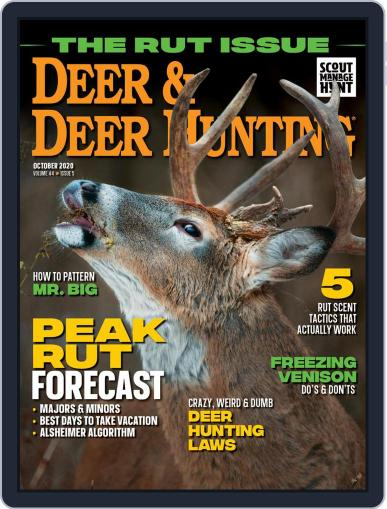 Deer & Deer Hunting October 1st, 2020 Digital Back Issue Cover