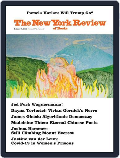 The New York Review of Books October 8th, 2020 Digital Back Issue Cover