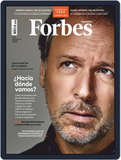 Forbes Argentina September 1st, 2020 Digital Back Issue Cover