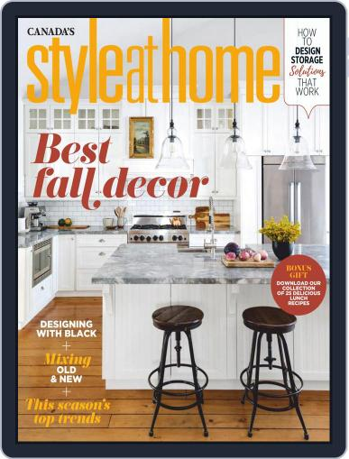 Style At Home Canada (Digital) October 1st, 2020 Issue Cover