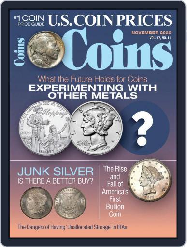 Coins November 1st, 2020 Digital Back Issue Cover