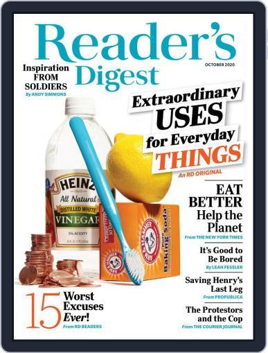 Reader's Digest October 1st, 2020 Digital Back Issue Cover