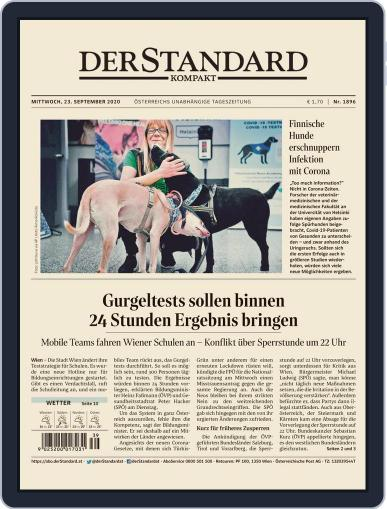 STANDARD Kompakt (Digital) September 23rd, 2020 Issue Cover