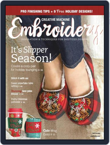 CREATIVE MACHINE EMBROIDERY October 1st, 2020 Digital Back Issue Cover