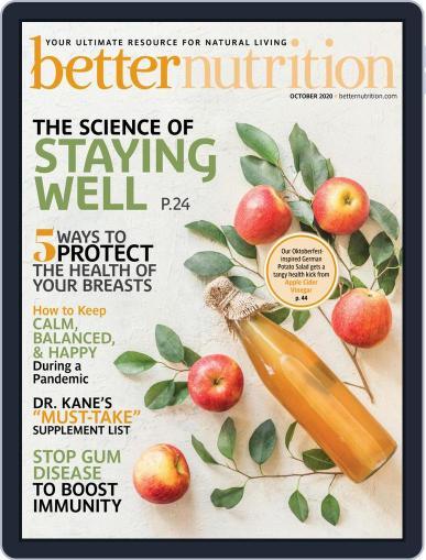 Better Nutrition Magazine (Digital) October 1st, 2020 Issue Cover