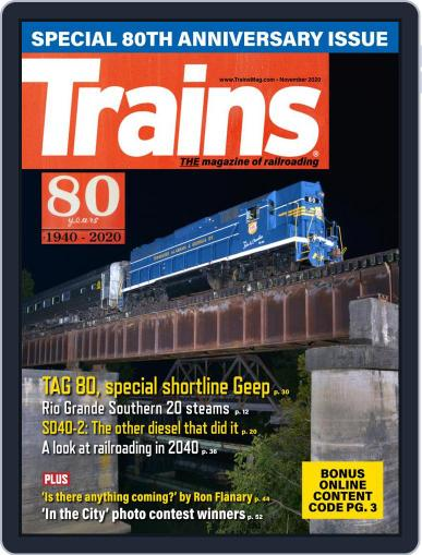 Trains (Digital) November 1st, 2020 Issue Cover