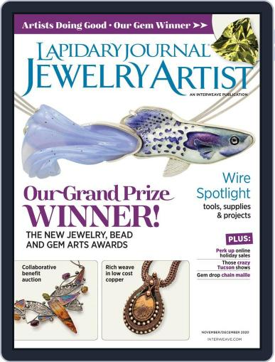 Lapidary Journal Jewelry Artist November 1st, 2020 Digital Back Issue Cover