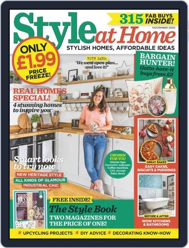 Style At Home United Kingdom (Digital) November 1st, 2020 Issue Cover