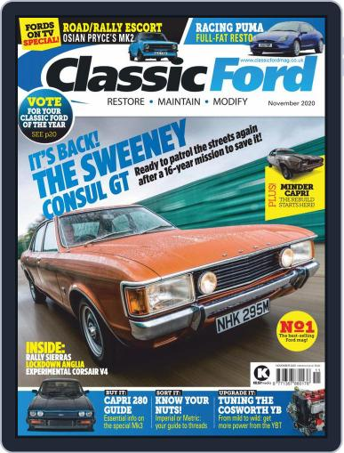 Classic Ford November 1st, 2020 Digital Back Issue Cover