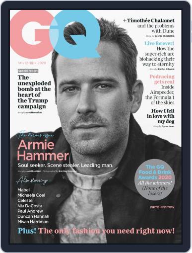 British GQ (Digital) November 1st, 2020 Issue Cover
