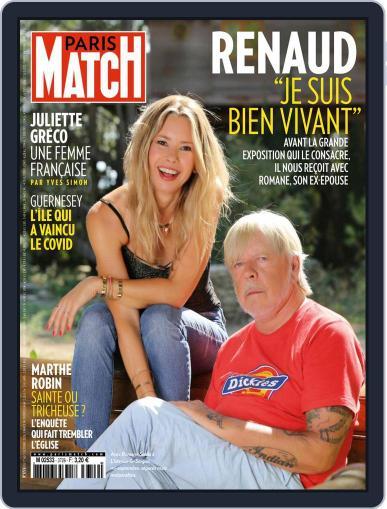 Paris Match (Digital) October 1st, 2020 Issue Cover