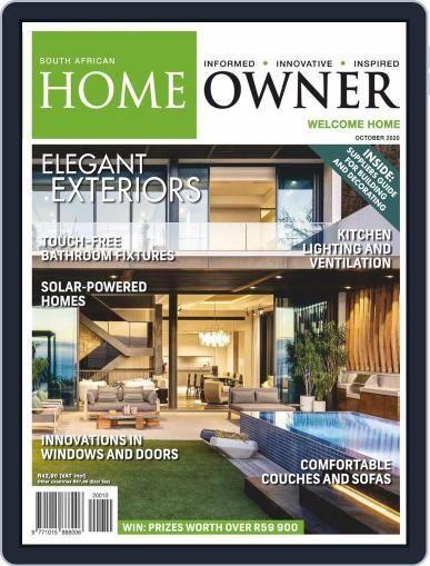 South African Home Owner (Digital) October 1st, 2020 Issue Cover