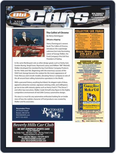 Old Cars Weekly October 22nd, 2020 Digital Back Issue Cover
