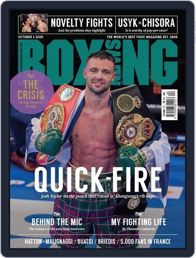Boxing News (Digital) October 1st, 2020 Issue Cover