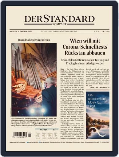 STANDARD Kompakt (Digital) October 5th, 2020 Issue Cover