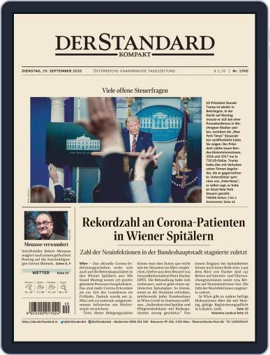 STANDARD Kompakt (Digital) September 29th, 2020 Issue Cover