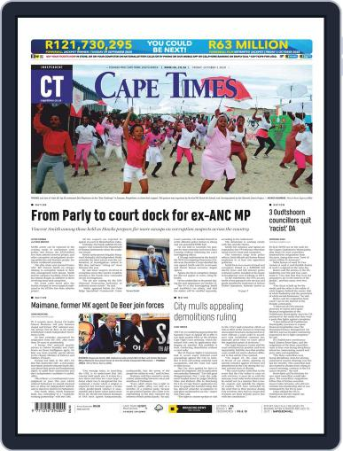 Cape Times October 2nd, 2020 Digital Back Issue Cover