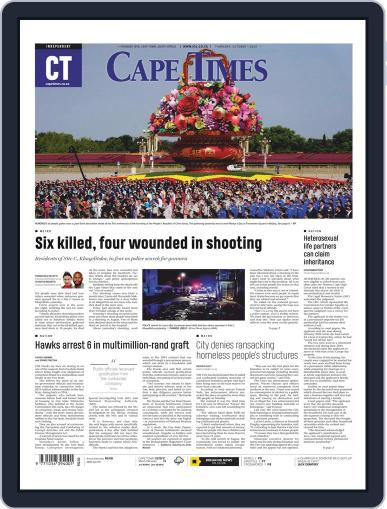 Cape Times (Digital) October 1st, 2020 Issue Cover