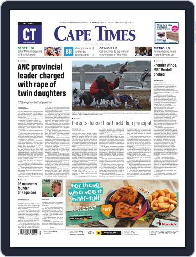 Cape Times September 29th, 2020 Digital Back Issue Cover