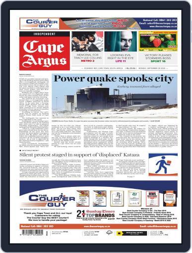 Cape Argus (Digital) September 28th, 2020 Issue Cover